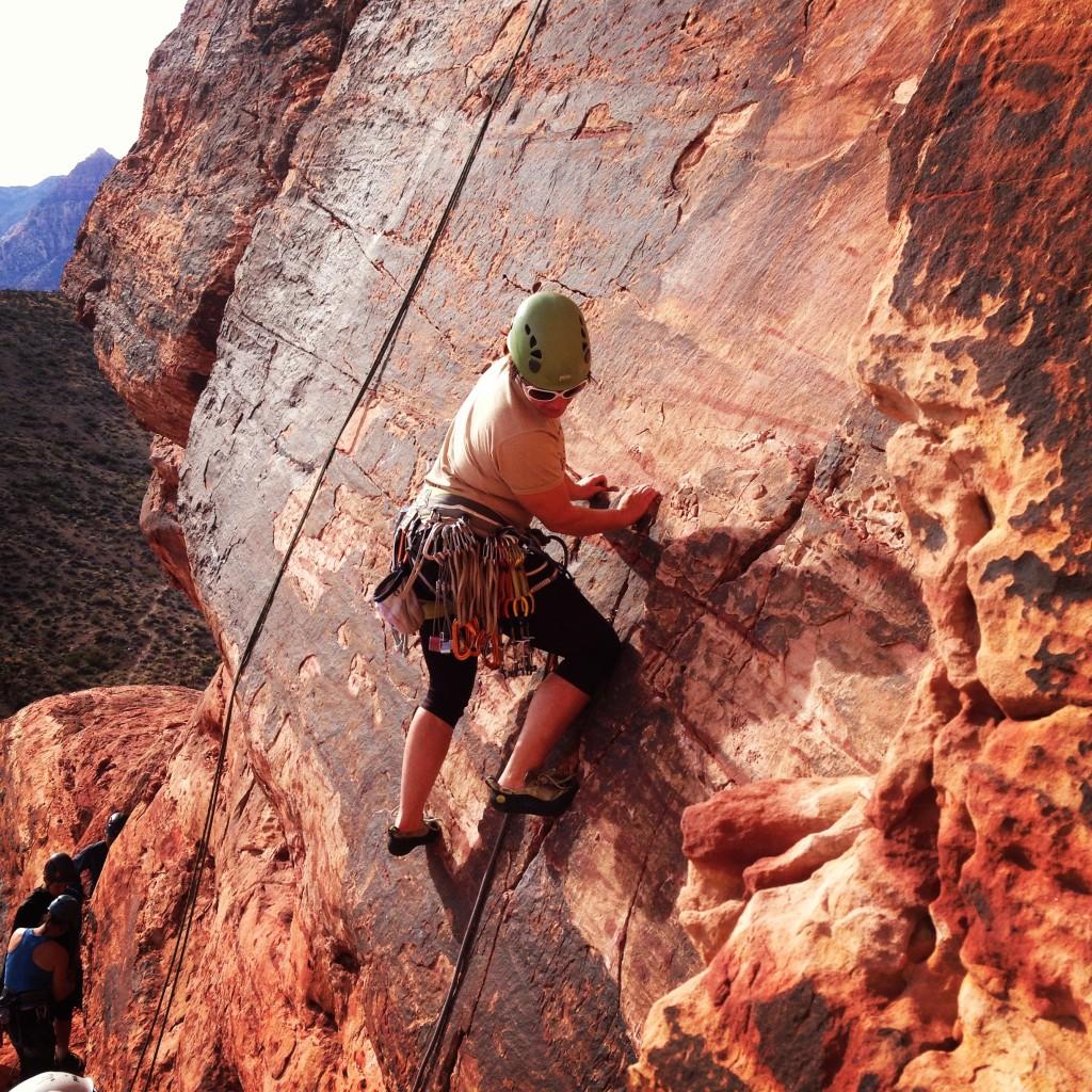 rock climbing women red rock canyon moderate mecca