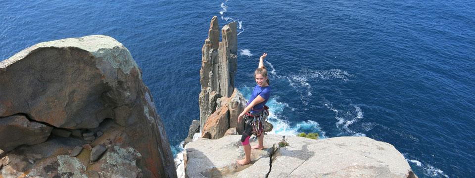 Cape Raoul Rock Climbing Women