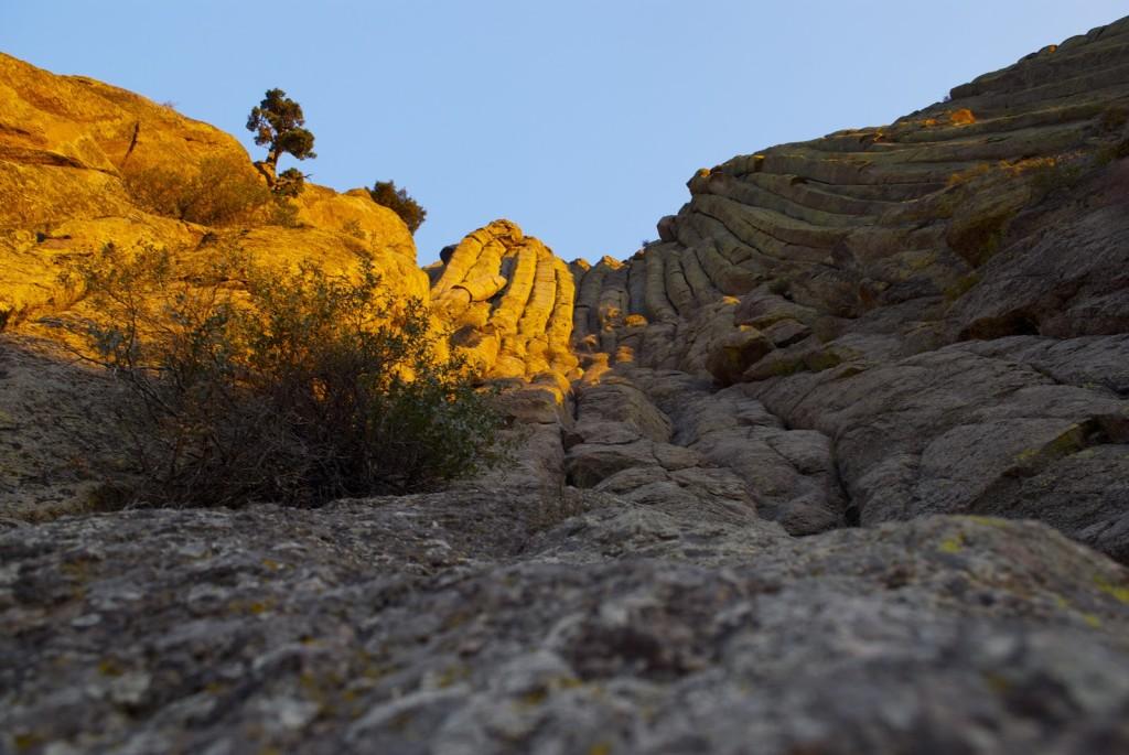 Devils Tower at sunrise -- Durrance (5.7)