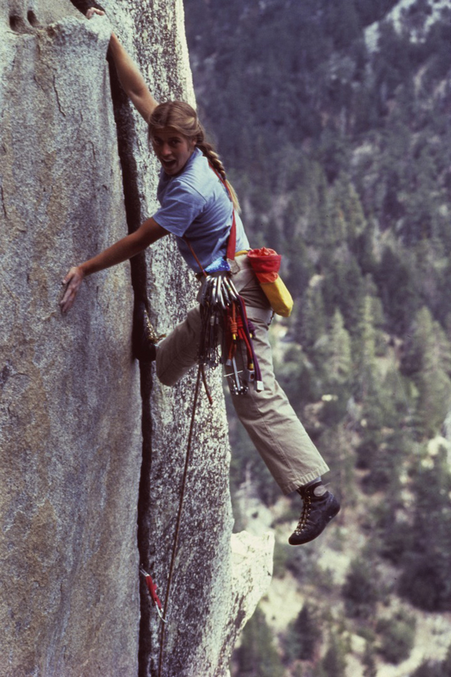 DUPE ON FILE / Patagonia climbing ambassador, Lynn Hill.