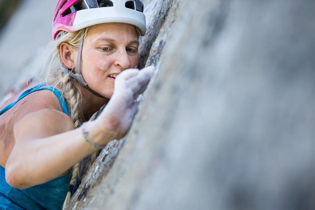 Emily Harrington climbs Golden Gate