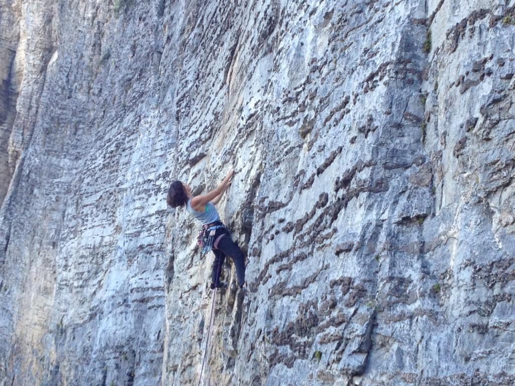 Tracy Martin rock climbing