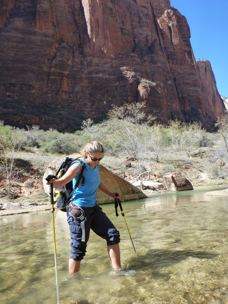 crossing the Virgin River in ZIon