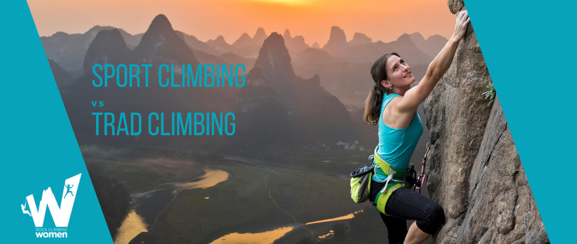 Female extreme climber conquers steep rock.