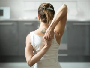 Behind the Head Shoulder Stretch