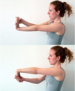 woman Forearm stretching